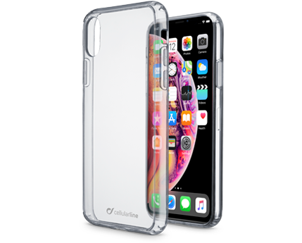 CELLULAR LINE Clear Duo - Cover trasparente per iPhone Xs Max